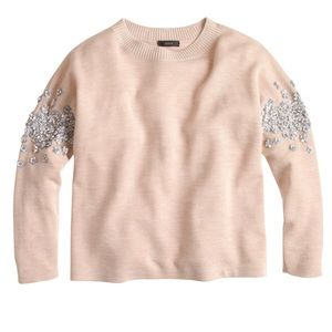 🆕 J. Crew Floral Sequin Sleeve Sweater
